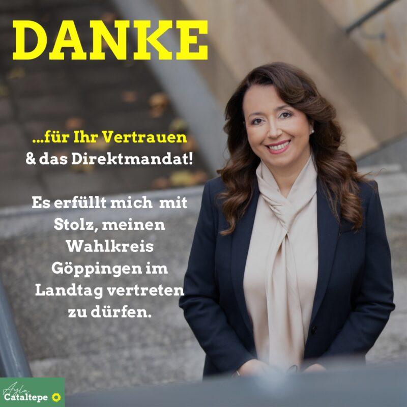 Danke für Ihr Vertrauen und das Direktmandat. Es erfüllt mich mit Stolz, meinen Wahlkreis Göppingen im Landtag vertreten zu dürfen.